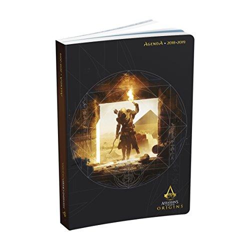 1–Agenda escolar (Assassin 'S Creed Origin–2018/2019–un día por página–12x 17cm, color Negro