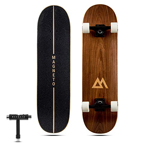 Magneto SUV Skateboards | Fully Assembled Complete 31' x 8.5' Standard Size | 7 Layer Canadian Maple Deck | Designed for All Types of Riding Kids Adults Teens Boys Girls | Free Skate Tool