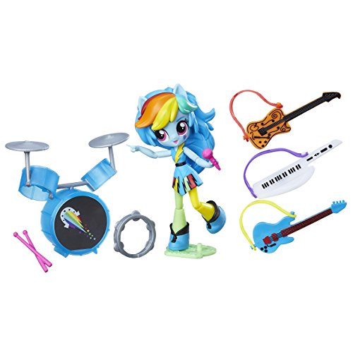 Hasbro Equestria Girls B9484ES0 - Minis Rainbow Dash Music Class Solid, Spielset
