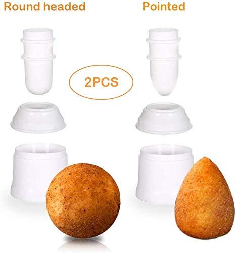 Klsyo DIY Molde de Bolas de Arroz,Puntiagudo Redondo Arancini Maker Multipropósito Máquina para Hacer Bolas de Carne Puede Hacer Croquetas,Bento Almuerzo Hecho, Sushi, Bolas de Arroz Glutinoso