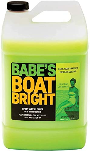 BABE'S Boat Bright Spray Wax Cleaner - 1 Gallon Refill - Environmentally Safe, Non-Abrasive Cleaner and Light Wax for Gelcoat, Vinyl, Metal, and Glass