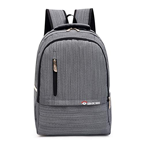 GYCZC Backpack Waterproof Double Backpack Male Anti-Theft Wear-Resistant Backpack Large Capacity Casual School Bag