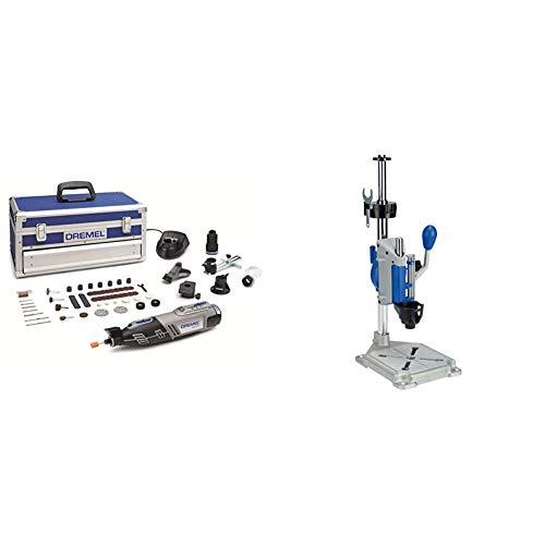 Dremel Platinum Edition 8220 - Multiherramienta inalámbrica, 12 V, kit con 5 complementos, 65 accesorios + Workstation 220 - Centro de trabajo y soporte para taladro o soporte para multiherramienta