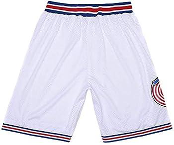Space Jam Tune-Squad Basketball Jersey Lola#10 Bugs Bunny#1 White Stitched S 3XL  XX-Large Space Jam Shorts White
