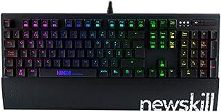 Newskill Hanshi (Versión extranjera) Spectrum Teclado mecánico gaming RGB con estructura metalica, reposamuñecas removible e iluminación RGB de color negro [Portugal]