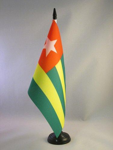 AZ FLAG TISCHFLAGGE Togo 21x14cm - TOGOLESISCHE TISCHFAHNE 14 x 21 cm - flaggen