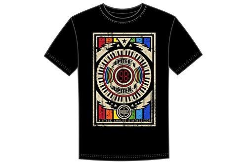 Roland Jupiter-8 Crew T-shirt voor heren, Zwart, Groot