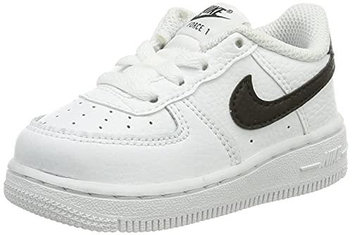 Nike Force 1 (TD), Zapatillas Deportivas Unisex niños, Blanco y Negro, 22 EU