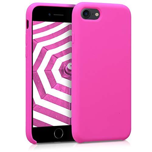 kwmobile Cover compatibile con Apple iPhone 7/8 / SE (2020) - Custodia in silicone TPU - Back Case protezione cellulare magenta
