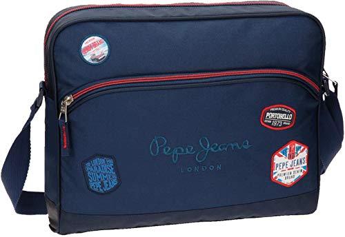 Pepe Jeans Kensington Mochila Escolar, 38 cm, 11.78 Litros, Azul
