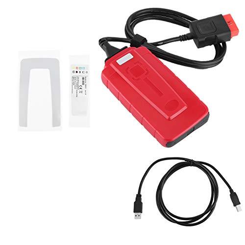Aramox Herramienta de diagnóstico de Coche, Herramienta de diagnóstico USB, escáner OBD, escaneo de Sistema Inteligente con diagnóstico LED para camión