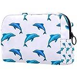 KAMEARI Bolso cosmético azul delfín grande cosmético organizador multifuncional bolsas de viaje