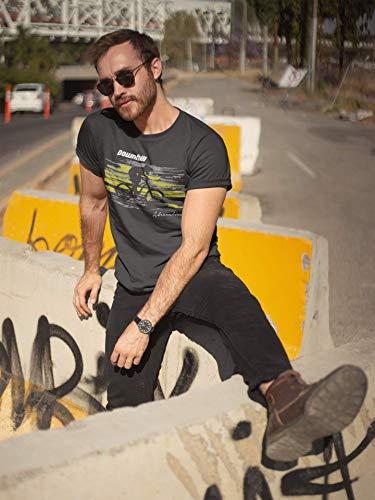Baddery: Downhill Adrenaline- Fahrrad T-Shirt als Geschenk für alle Fahrradliebhaber – Geschenkidee (XXL) - 2