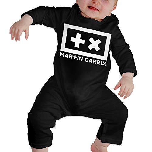 Martin Garrix Body Nouveau-né Fille Garçons Enfant Bébé Manches Longues Toddler(6M,Noir)