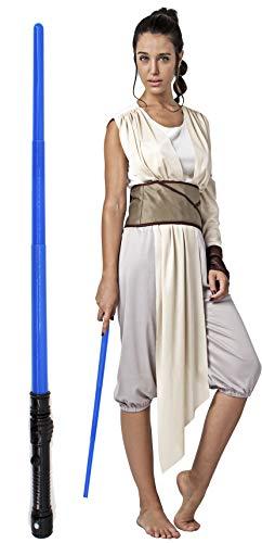 Gojoy Shop- Disfraz Completo y Espada Láser de Rey Palpatine de Star Wars 9 para Mujeres Carnaval (Contiene Espada Láser, Camiseta, Pantalón, Manga y Cinturón, Talla Unica)