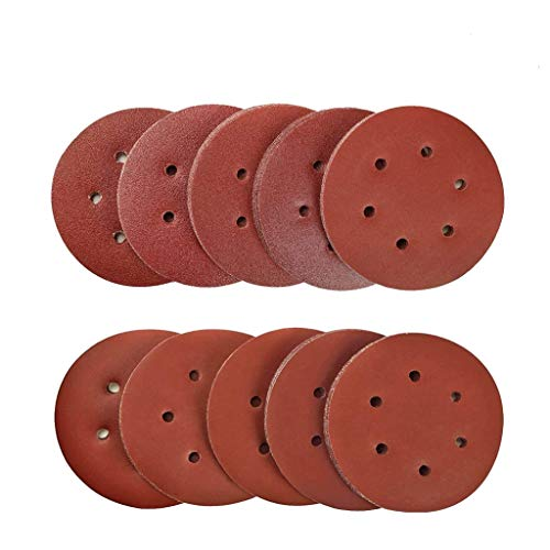 Discos de Lija 100 pcs, 150mm Papeles de Lija Abrasivos con