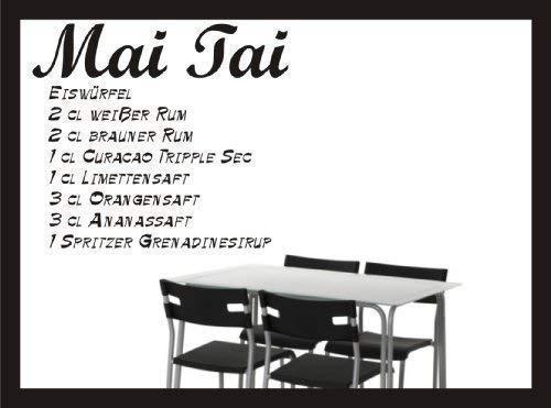 Cocktail Rezept Wandtattoo - Mai Tai - Wandaufkleber