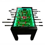 Warrior Table Soccer Professional Foosball Table, LED Enhanced