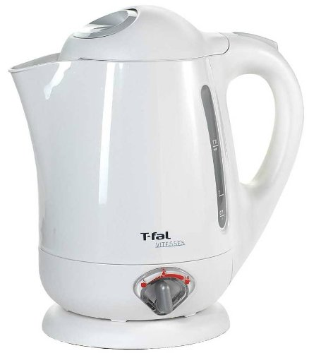 T-fal BF6520 Vitesses 1.7-Liter Electric Kettle with Variable Temperature, White