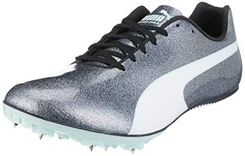 Puma Damen Evospeed Sprint 9 Wn Leichtathletikschuhe, Schwarz (Steel Gray-Fair Aqua White), 36 EU