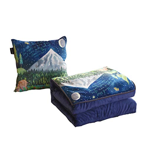 Gemütlich Kissen Multifunktionskissen Quilt Büro Mittagspause Klappdecke Auto Sofa Klimaanlage Zurück Sanft (Color : E, Size : S)