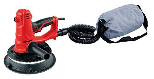 Lijadora eléctrica para yeso 710w ® aspiración integrada Silex 1-set de herramientas 2 escobillas de carbón de repuesto 6-Discos de papel de lija, granos variados ()