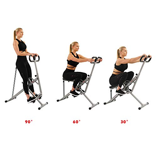 Product Image 5: Sunny Health & Fitness Squat Assist Row-N-Ride Trainer for Glutes Workout with Training Video