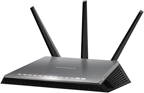 Netgear Nighthawk D7000-100PES - Módem Router Gaming con tecnología WiFi AC1900 Dual Band (Compatible con Alexa, ADLS/VDSL, 4 Puertos Ethernet Gigabit y 2 Puertos USB 3.0) Color Negro