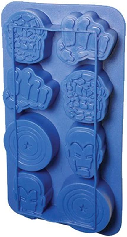Icup Marvel Comics Heroes Ice Cube Tray Mold Iron Man Hulk Captain America Silicone
