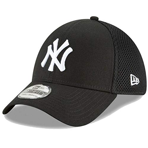 New Era New York Yankees Neo 39THIRTY Unstructured Flex Ha Black (Medium/Large) - M/L