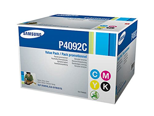 Samsung CLX-3175 (P4092C / CLT-P 4092 C/ELS) - original - Toner MultiPack (schwarz, cyan, magenta, gelb) - 4.500 Seiten