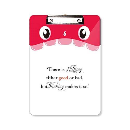 Det finns inget bra eller dålig mun skrivplatta mapp fil dyna bakplatta A4