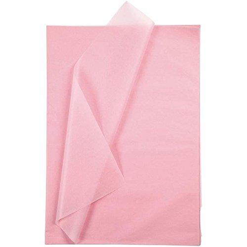 Creavvee® Decoupage Seidenpapier 50x70 cm, Rosa 25 Bögen