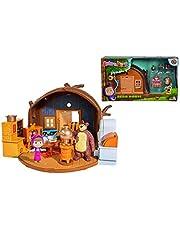 Simba 109301632 - Masa en de beer speelset beerhuis om open te klappen