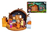 Playset Casa del Oso de Masha y el Oso con 2 figuras y accesorios (Simba 9301632)