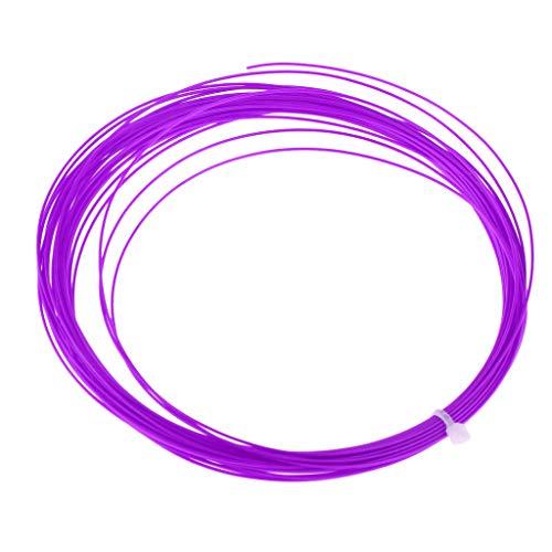 Sharplace Badminton Tennisschläger Schnur Nylon Geflochtene Rolle Schnur Draht Set 10 Meter - Lila