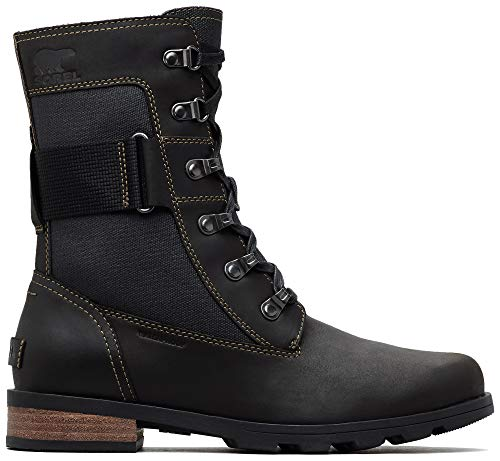 Sorel - Women's Emelie Conquest Waterproof Boot, Black, 10 M US
