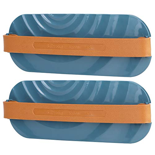 Nunafey Armadio Organizzatore Salvaspazio Montato a Parete Scarpa Porta Appeso Pantofola Organizzatore, Scarpiera Scarpiera Scaffale, Hotel per Bagno Armadio Domestico(Blue)
