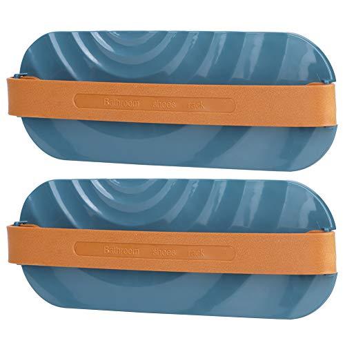 JULYKAI Estante para colgar en la puerta, organizador de armario duradero, organizador de zapatillas, montado en la pared, ahorro de espacio para hotel, armario, baño, hogar (azul)