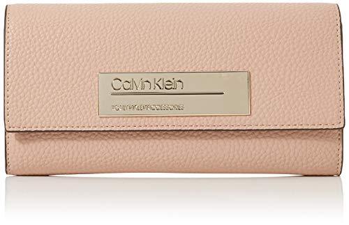 Calvin Klein - Sided Large Trifold, Bolsas para portátil Mujer, Rosa (Nude), 1x1x1 cm (W x H L)