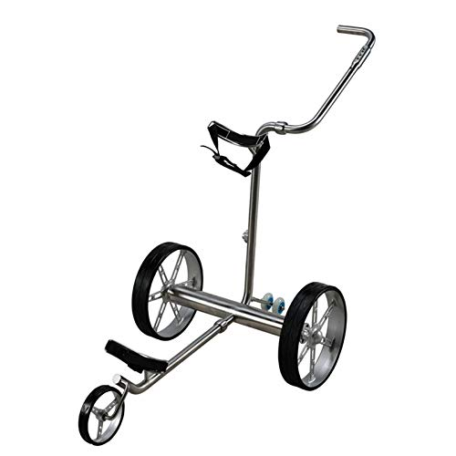 LY Stahl-Golftrolley Elektro-Golfcarts Golfwagen Elektrischer Golfcaddy Zusammenklappbar, Anzeigetafel,Edelstahl Regenschirmrohr,Getränkehalter, Handyhalter 267398