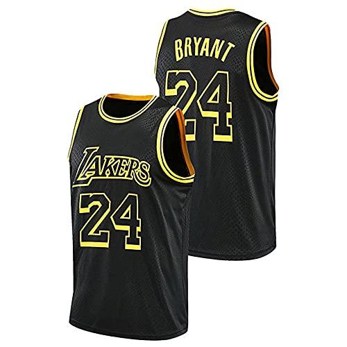 DDSGG NBA Lakers 24# Kobe Bryant Jerseys Hombres Adultos Baloncesto Jersey Transpirable Resistente al Desgaste Bordado Camiseta para Hombre