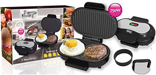 WZLJW Sandwichera en Acciaio inossidabile, 220V-750W, macchina por bistecca fritta, Hamburguesa, uovo fritto, macchina por Sandwich liuchang20 ggsm