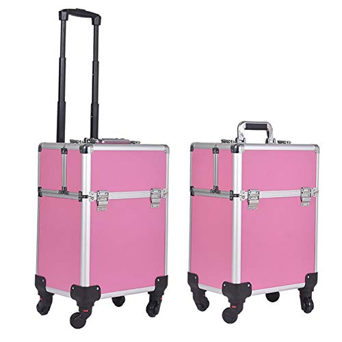 HUATINGRHBO Reisen Beauty Trolley, Make-up-Veranstalter Nagellack Schmuck Cosmetic Box Beauty...