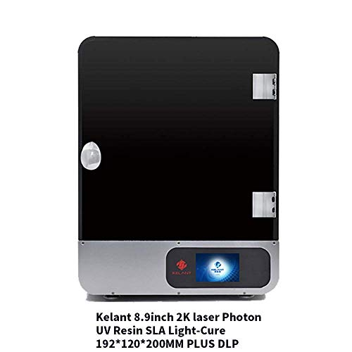 """KELANT S400 8.9 inch Large UV Light Curing LCD 3D Printer, Print Size 7.55""""(L) x 4.72"""" (W) x 7.87""""(H) Offline Printing with 3.5 inch Smart Touch Color Screen"""