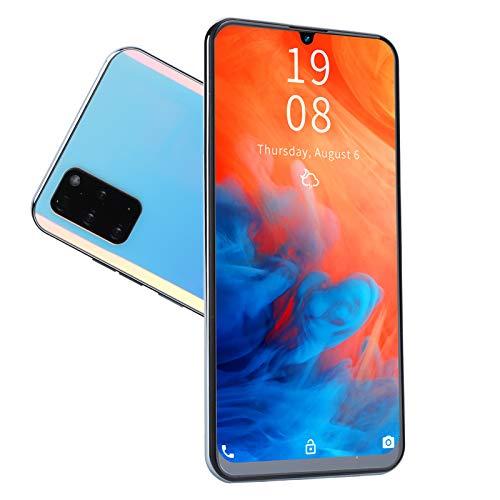 7,2 Pulgadas Smartphone HD, Pantalla De Gota De Agua TeléFono Celular Con Tarjeta De Memoria, TeléFonos Gratuitos De Dual Sim, 1GB + 16GB, CáMaras De Alta DefinicióN, BateríA De Larga DuracióN(blanco)