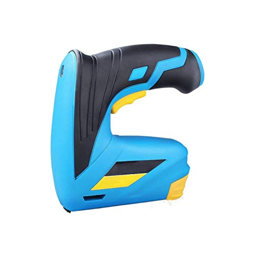 Sdesign Pistola eléctrica sin Cable/Grapadora/Tacker/Grapa y Pistola de Clavos, batería de ión de Litio Recargable 3.6v □ para tapicería, Telas, Textiles y Madera Delgada