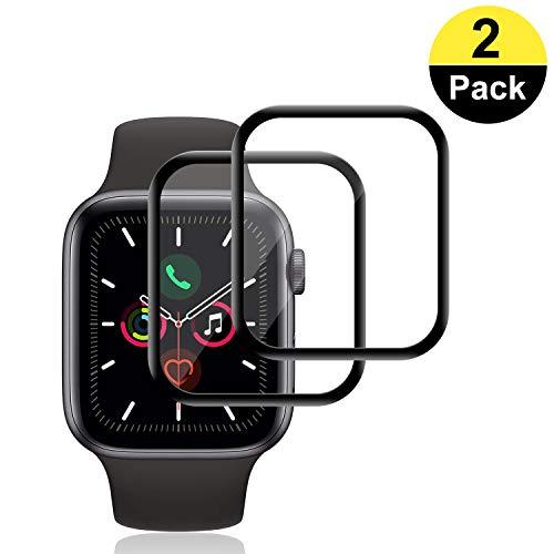 RIIMUHIR-Panzerglas Schutzfolie für Apple Watch 44mm Series5/4 [2 Stück], Displayschutzfolie für Apple Watch 44mm Series5/4, Panzerglas 9H Härte, Schutzfolie für Handys Einfache Installation