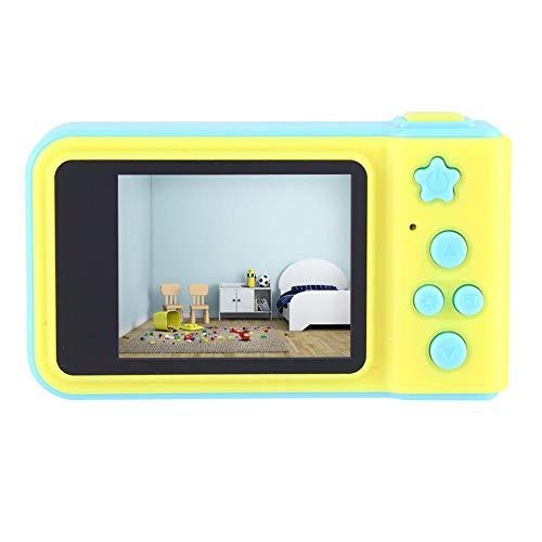 Pomya Cámara para niños, Pantalla Colorida de 2 Pulgadas HD 1080P Cute Kids Kids Toy Mini cámara de Video Digital con Marco de Fotos Digital y Funciones de Sello de Fecha(Azul)