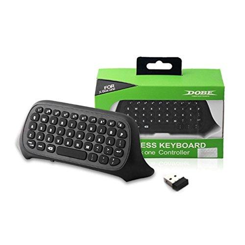 Draadloos toetsenbord voor XBox One Mini Draadloos 2,4 GHz toetsenbord Toetsenbordcontroller Zwart